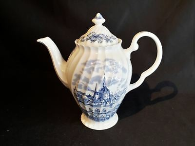 Johnson Brothers Tulip Time Coffee Pot - Lid Crazed