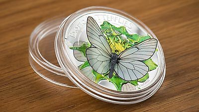 2017 EXOTIC BUTTERFLIES in 3D .999 Silver Coin Mongolia 500 Togrog Butterfly **