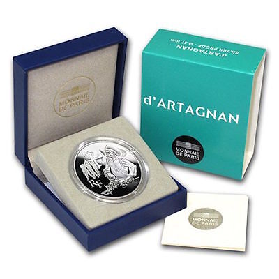 2012 D'ARTAGNAN Silver Proof Coin, France 10 Euro, 3 Musketeers COA BOX**