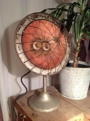 Cool Gift Steampunk Industrial Lamp Vtg Copper Dish Cast Iron Original Patina