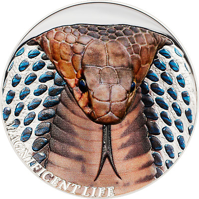 2017 Magnificent Life COBRA 1oz Silver coin High Relief Proof Cook Islands $5 **
