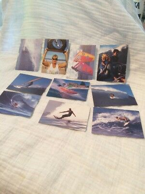 Vintage 10 Different Surf Sports Collector Cards Vintage Surfing