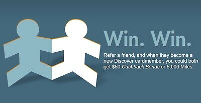 Free Discover Card $50 Cashback Bonus with Referral Link Provided