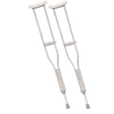 Drive Walking Crutches with Underarm Pad and Handgrip, Gray - Youth 1/pr