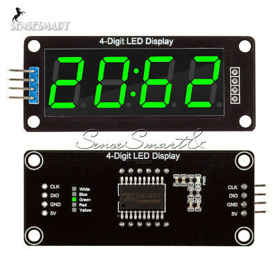 0.56''Inch TM1637 4Bit Digital LED 7Segment Clock Tube Display For Arduino Green