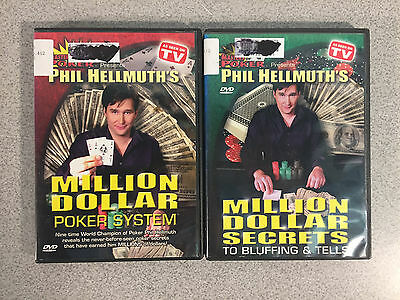 Phil Hellmuth's Million Dollar Poker System & Million Dollar Secrets, DVDs 2 Lot