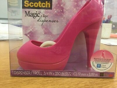Scotch Magic Tape Dispenser - Pink High Heel Stiletto Pump - Hot! - New in Box