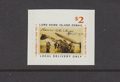 Lord Howe Island 2006 $2 ZEMAIL-Tiger Moth -Cinderella/Local -Peel & Stick- MUH