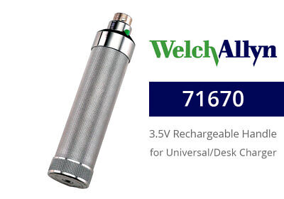 Welch Allyn 71670 Rechargeable NiCad Handle for Desk/Well Chargers
