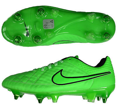 edbc34e50 Nike Tiempo Legend V SG Pro Leather Football Boots Soft Ground Green ~ SIZE  6.5