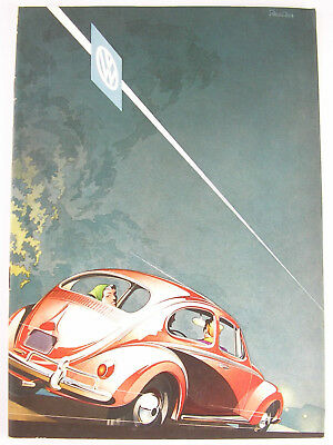 Deluxe: 1958 VOLKSWAGEN SEDANS USA English Language Fold-Out Brochure