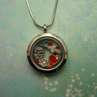 Stainless Steel Medium Round Locket on plain link Chain