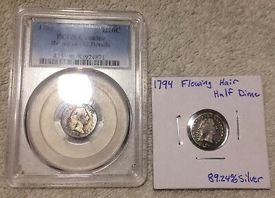 1794 Flowing Hair Half Dime & 1795 Flowing Hair Half Dime graded by PCGS