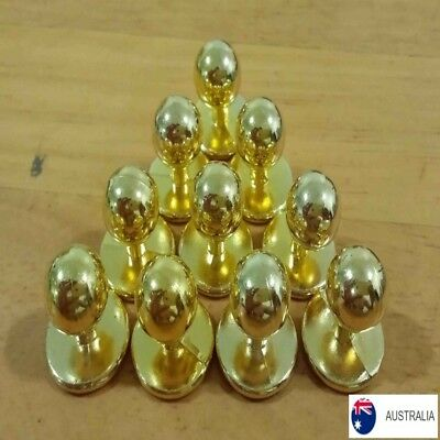 Chef Jacket Buttons Gold x 10 pack NEW plastic chef button replacement set