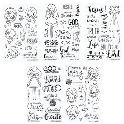 Cartoon Girl Transparent Silicone Clear Rubber Stamp Scrapbooking Card DIY Craft