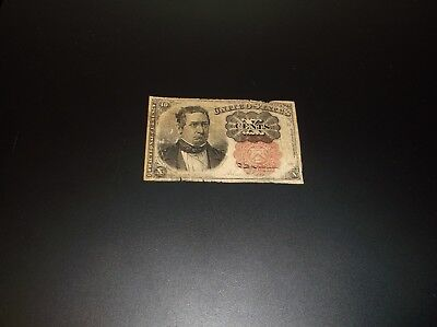 """1849-1850 US Fractional Currency """"TEN CENTS"""" 10 fifth issue Wm Meredith vintage"""