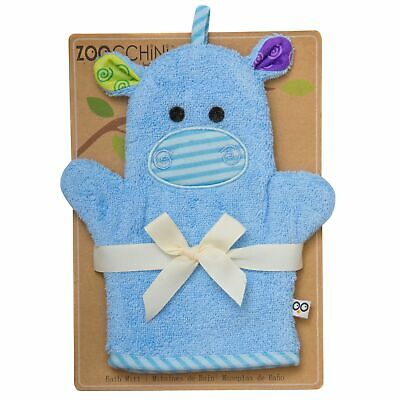Zoocchini From Birth Newborn Baby Child Bath Mitts - Henry the Hippo
