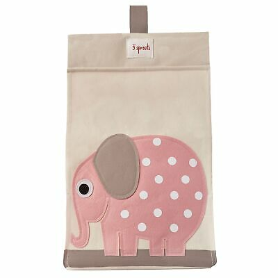 3 Sprouts Baby / Child Nappy Stacker Stacking Storage - Pink Elephant