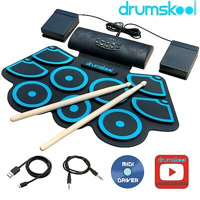 Electronic Drum Kit Portable Electric drum set with battery speaker sticks TNKR