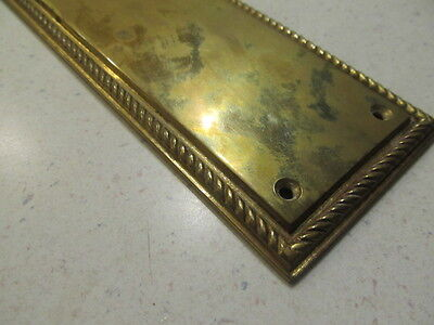 "Solid Brass Door Push Plate 3"" x 12"""