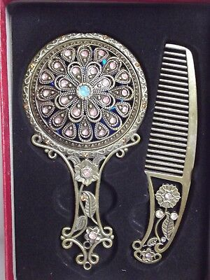 A New Dressing Table Set, Mirror And Comb, Christmas Gift Present