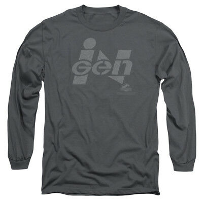 Jurassic Park Movie INGEN LOGO Licensed Adult Long Sleeve T-Shirt S-3XL