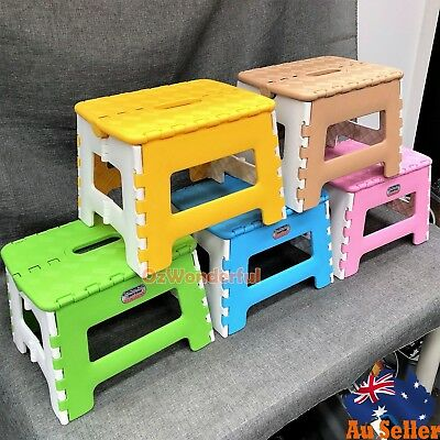 Kitchen Portable Plastic Foldable Step Kids Stool toilet Adult picnic Chair