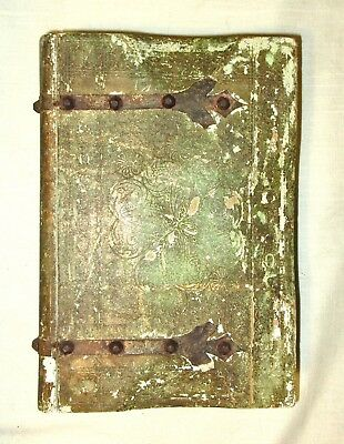 Old Vintage Wood Gold Gilt/Tole Book Shaped Florentine Wood Box - Italy