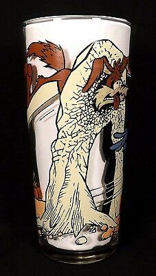 "Warner Brothers 1976 Pepsi ""Wile E. Coyote and Road Runner"" Tall 16 oz Tumbler"