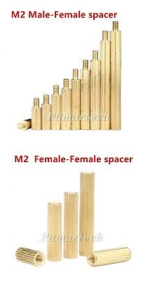 Good Useful M2 Round Knurled Brass Standoff Support Spacer Pillar for PCB Board
