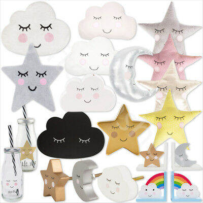 SWEET DREAMS Cloud Star Moon Cushion/Pillow/Door Knobs/Piggy Bank/Rugs Home Gift