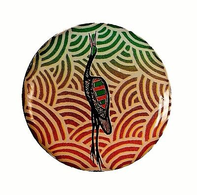 "Indigegrip - ""BROLGA"" authentic indigenous Aboriginal art on a Golf Putting Grip"