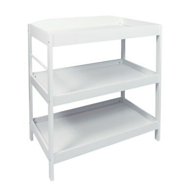 Woodluv Baby Changing Dresser Station Unit, Babys Changing Table Unit - White