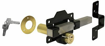 Perry High Security Garden Gate/Shed/Door Lock 70mm Long Throw Lock both sides