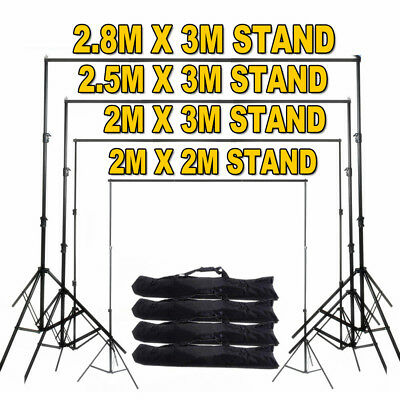 Heavy Duty Adjustable Photography Background Support Stand Kit With Case 4 Size