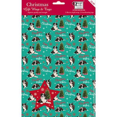 Christmas Wrap & Tags - A Very Collie Christmas (5 Sheets+Tags)