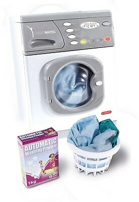Kids Electronic Washing Machine Toy Casdon Spin Wash Role Pretend Play Toys