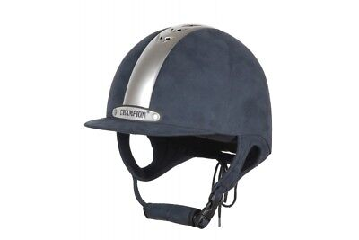 Champion Ventair Riding Hat Navy/ Silver Clearance RRP £111