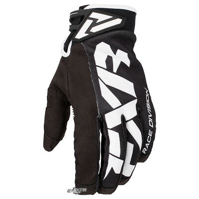 NEW FXR Racing Cold Cross Black White Cold Weather Gloves Motocross BMX Enduro