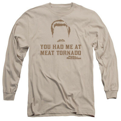Parks & Recreation Ron Swanson You Had Me MEAT TORNADO Long Sleeve T-Shirt S-3XL
