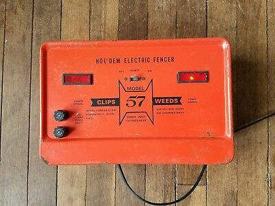 RARE Industrial Hol Dem 57 Electric Fencer Working