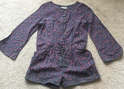 Next Girls Grey Floral Playsuit - 4 years (Summer)