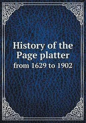 NEW History Of The Page Platter From 1629 To... BOOK (Paperback / softback)