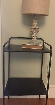 Metal Table Vintage Old Industrial - Side Table/Nightstand  Local Pickup Only