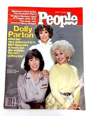RARE People Weekly January 19 1981 9to5 Dolly Parton Ronald Reagan Ad