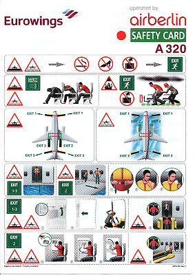 Safety Card / Eurowings opby Air Berlin / A320 / 2016 (Ref ABFB-064, Rev.0)