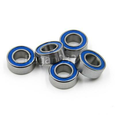 10PCS MR105-2RS Blue Rubber Sealed Ball Bearing Miniature Bearing 5 x 10 x 4mm