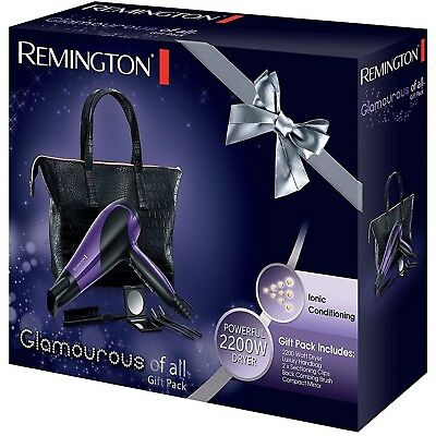 Remington Glamourous Hair Dryer Gift Set Pack with Luxury Handbag D3192GP 2200W