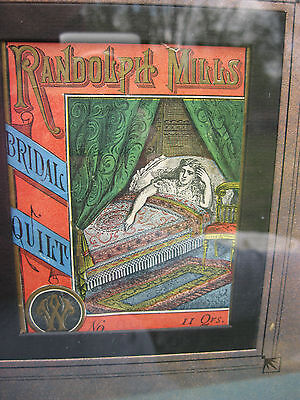 Old Antique Victorian Randolph Mills Bridal Quilt Advertising Ad Package Wrapper