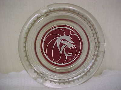 Lion MGM Las Vegas Trademark with R in circle Vintage  Casino Ashtray Souvenir